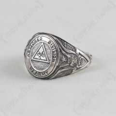 Silver US Armored Division Ring facing left