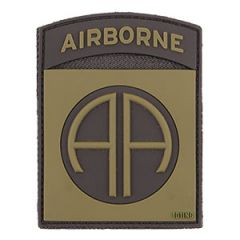 82nd Airborne Patch - PVC Olive