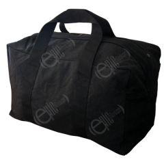 Black Cotton Aviator Bag