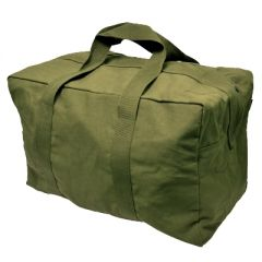 Olive Cotton Aviator Bag