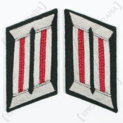 German Army Officer Collar Tabs (Artillery Red)