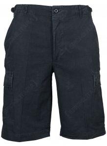 Black BDU Rip Stop Cargo Shorts