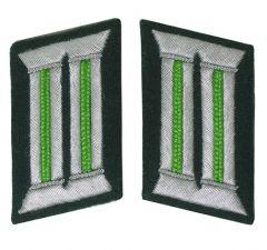 WW2 German Officer Collar Tabs (Light Green)
