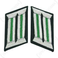 German Army Officer Collar Tabs Panzer Grenadier Green