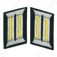 WW2 German Army Officer Collar Tabs (Signal Lemon Yellow)