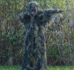 Anti-Fire Woodland Camo 4-Piece Ghillie Suit