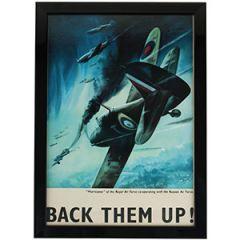 WW2 British Back Them Up Framed Print