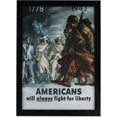 WW2 American Fight For Liberty Framed Print
