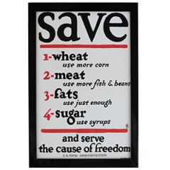 WW1 American Serve The Cause Of Freedom Framed Print