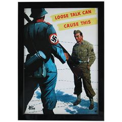 WW2 American Loose Talk Can Cause This Framed Print