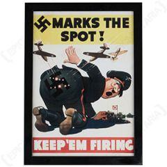 WW2 American Keep 'Em Firing Framed Print