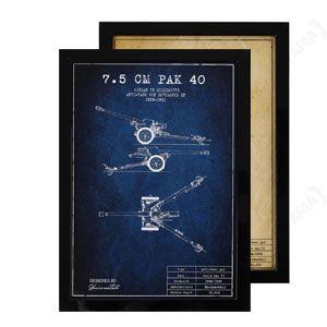 WW2 German 7.5 cm Pak 40 Framed Print