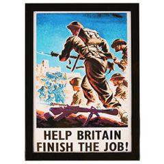 WW2 British Finish The Job Framed Print