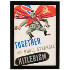 WW2 British Strangle Hitlerism Framed Print