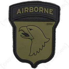 101st Airborne Patch - PVC Olive