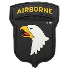 101st Airborne Patch - PVC Black
