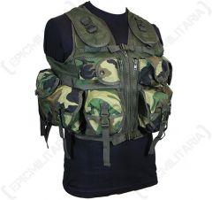 9 Pocket Woodland Camo Tactical Vest