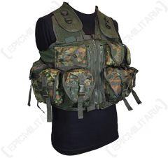 9 Pocket Flecktarn Camo Tactical Vest