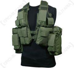 12 Pocket Olive Green Tactical Vest