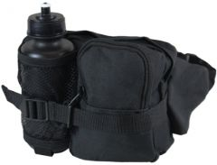 Black Tactical WAIST Pack and Bottle