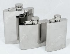 Stainless Steel Hip Flask - Polished Finish