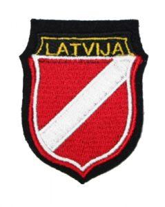 Latvia - Yellow LATVIJA Red/white/red shield