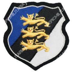 Estonia - Blue/black/white shield (with 3 Lions)