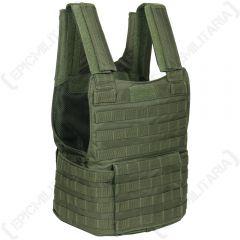 Padded Molle Assault Vest - Olive