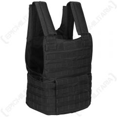 Padded Molle Assault Vest - Black