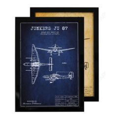 Junkers JU 87 Framed Blueprint