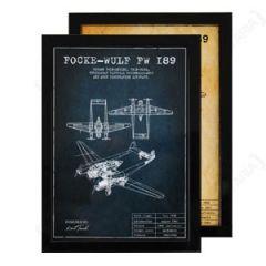 Focke-Wulf FW 189 Framed Blueprint