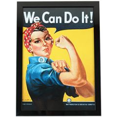 """WW2 Rosie the Riveter """"We Can Do It!"""" Framed Print"""