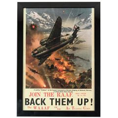 WW2 British Join The R.A.A.F. Framed Print