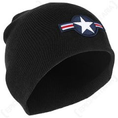 USAF Beanie Hat - Black
