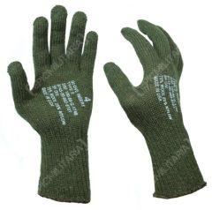 Pair of woolen, dark green US GI Glove Inserts