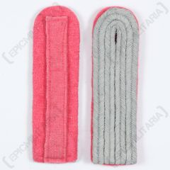 German Officer Shoulder Boards Pink Piped Front and Back