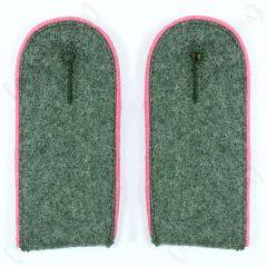 Panzer EM Shoulder Boards Field Grey (Pink piped)