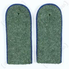 WW2 German Medic EM Shoulder Boards Field Grey (Blue piped)
