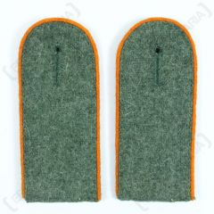 WW2 German Police EM Shoulder Boards Field Grey (Orange Piped)