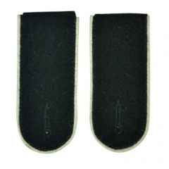 Waffen SS EM Shoulder Boards (White piped)