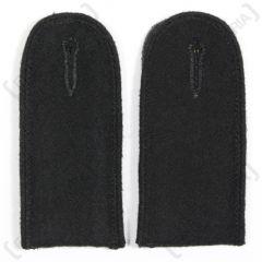Waffen SS EM Shoulder Boards (Black piped)