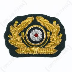 WW2 German Army General Visor Cap Wreath and Cockade
