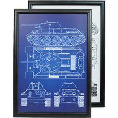 Soviet T-34 Tank Framed Patent Print Thumbnail