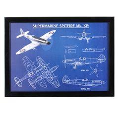 Supermarine Spitfire Framed Blueprint Thumbnail
