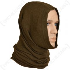 Czech Army Brown/Olive Green Tube Scarf