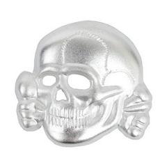 Waffen-SS Silver Cap Skull Thumbnail