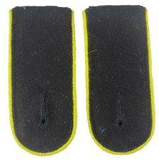 Waffen SS EM Shoulder Boards (Lemon Yellow piped)