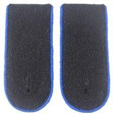 Waffen SS EM Shoulder Boards (Blue piped)