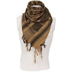 Stars Shemagh Headscarf - Coyote and Black