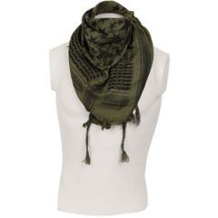 Stars Shemagh Headscarf - Olive and Black